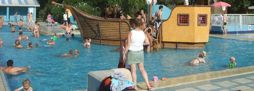 Swimming Pool and Childrens Play Area at the Ca'Savio Campsite, Italy