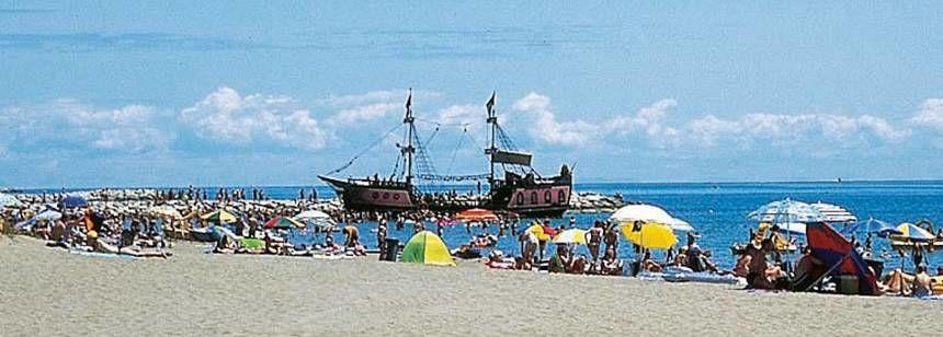 Beach Beside Ca'Savio Campsite, Italy