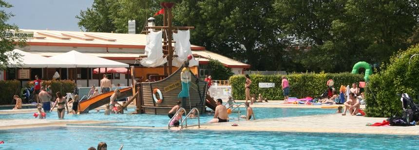 Swimming Pool and Water Slides at the Ca'Savio Campsite, Italy