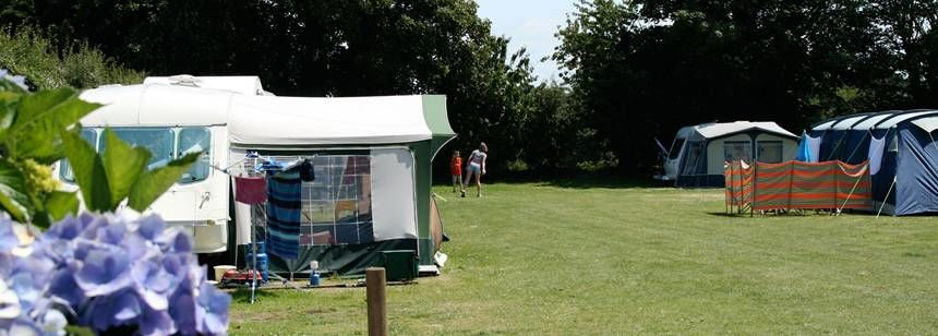 Secluded Grass Pitches at the Beuvel and e Campsite, Channel Islands