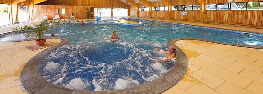 Swimming Pool and Facilities at the Beauregard Campsite, France