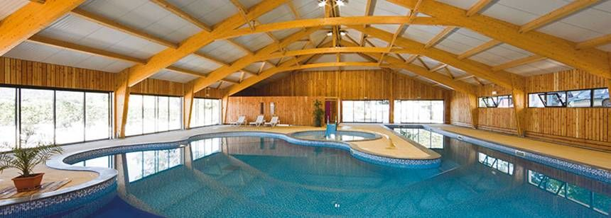 Indoor Swimming Pool at the Beauregard Campsite, France