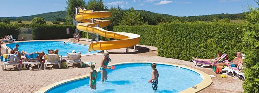 Swimming Pool Childrens Play Area at the Beauregard Campsite, France