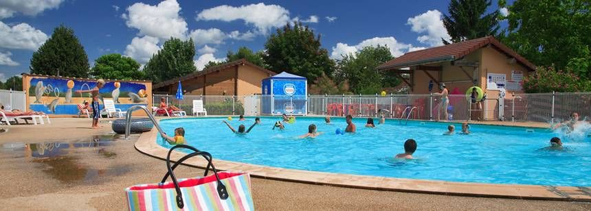 The swimming pool at Camping la Plage Blance, Ounans, France