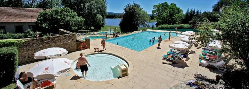 Pools with a view at Camping Chateau de Poinsouze, Limousin