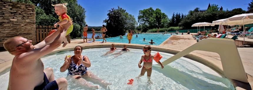 Fun for all the family at Camping Chateau de Poinsouze, Limousin