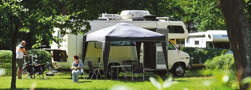 Grass Pitches in the Scenic Le Brabois Campsite, Italy