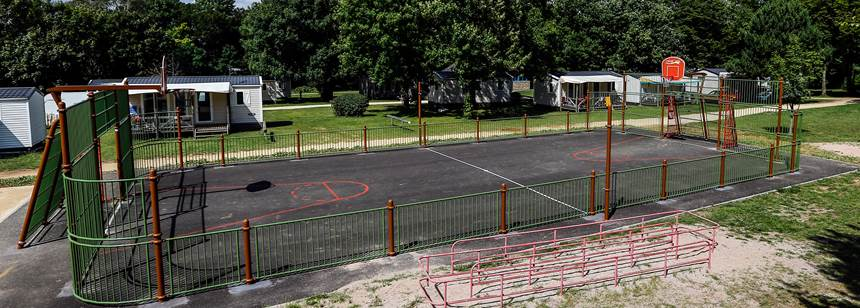Multisports court at Camping Le Brabois, Nancy, France