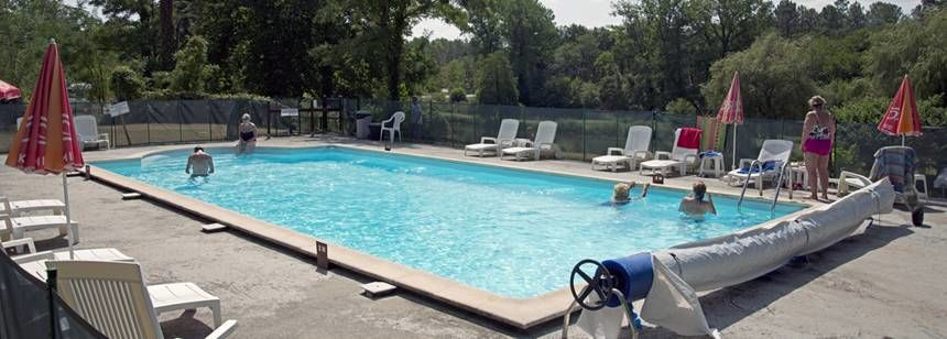 Swimming Pool at the Moulin De Campech Campsite, France