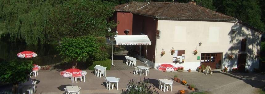 The bar terrace at Le Moulin de Campech
