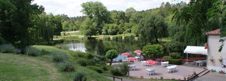 Terrace overlooking the lake, Moulin de Campech, Villefranche-du-Queyran, France