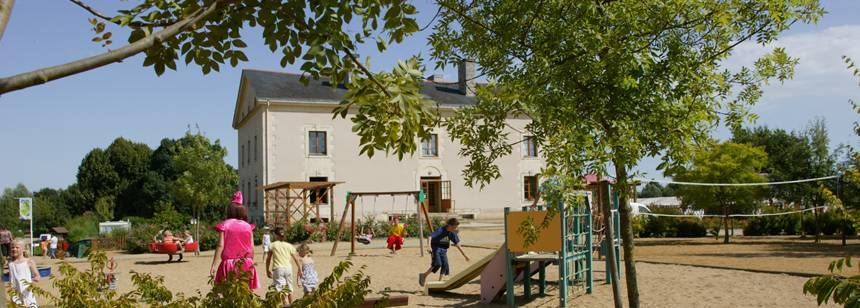 The children's playground at Domaine de l'Etang, Brissac, France.
