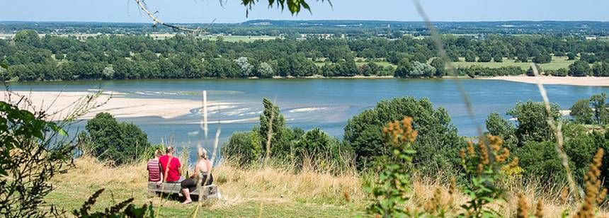 The view over the Loire from Camping Chantepie, near Saumur, France.