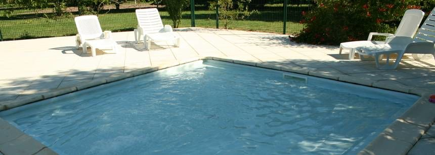 Swimming Pool at the Vallée Des Vignes Campsite, France