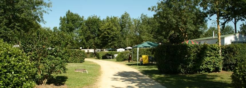Secluded Grass Pitches at the Vallée Des Vignes Campsite, France