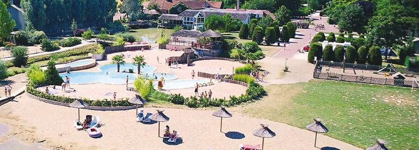 Swimming Pool Beach and Water Sports at the Les Bois Du Bardelet Campsite, France