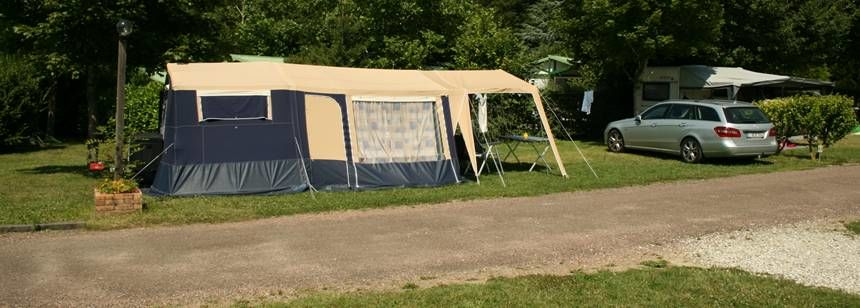 Grass Pitches With Tent at the Les Bois Du Bardelet Campsite, France