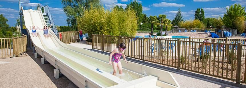 Camping Les Bois du Bardelet, Gien, Loire valley - the waterslide