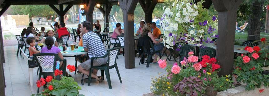 Restaurant at the Les Saules Campsite, France