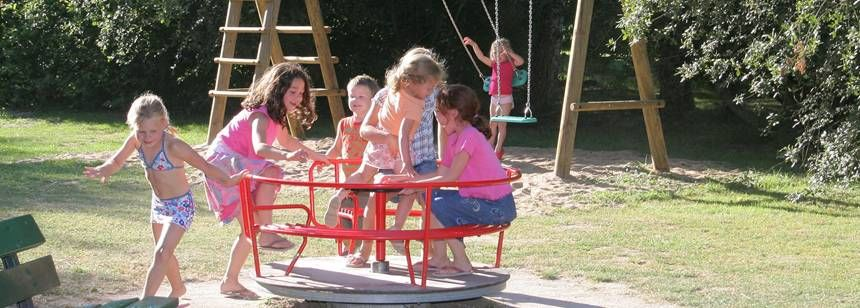 Childrens Play Area at the Les Saules Campsite, France