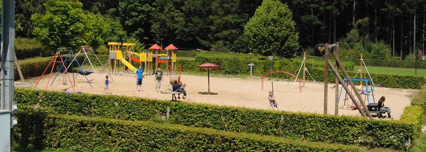 Childrens Play Area and Facilities at the Auf Kengert Campsite, Luxembourg
