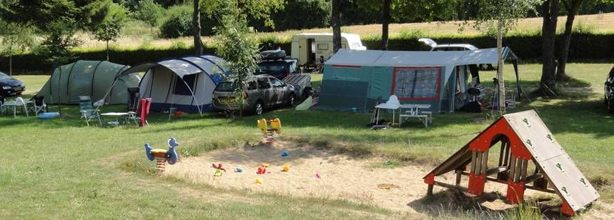 Places to play on site at Auf Kengert campsite, Luxembourg