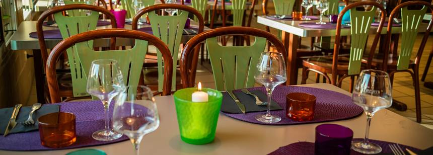 The restaurant, Camping Ma Prairie, Canet Plage, Roussillon, France
