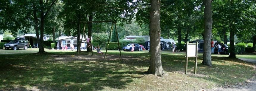 Shaded Grass Pitches at the Château De Galinée Campsite, France
