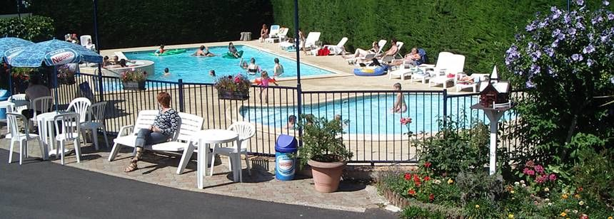 Swimming Pool and Activities at the Abri Côtier Campsite, France