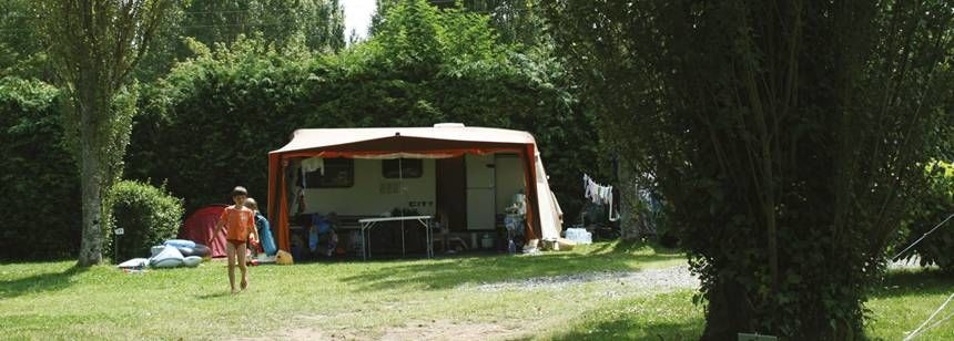 Grass Pitches in the Scenic Abri Côtier Campsite, France