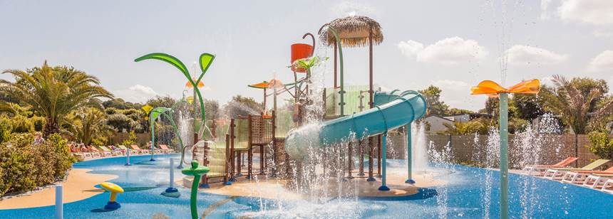 Splash pad, Camping Village les Mouettes, Carentec, North Brittany, France