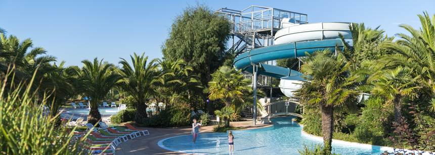 Waterpark, Camping Village les Mouettes, Carentec, North Brittany, France
