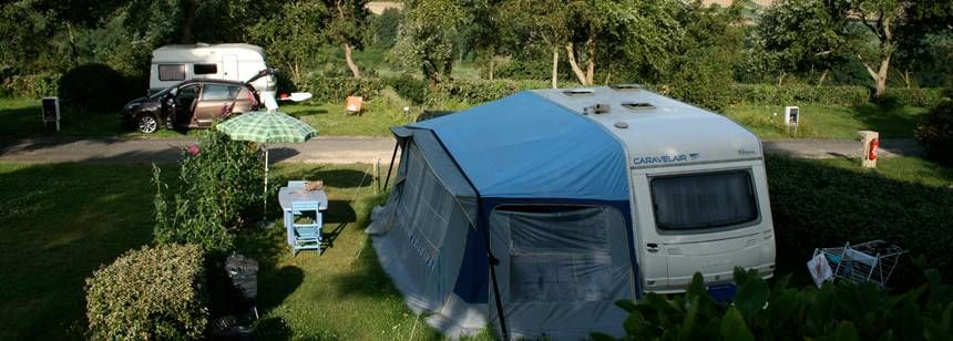 Secluded Grass Pitches at the Bois De La Palud Campsite, France