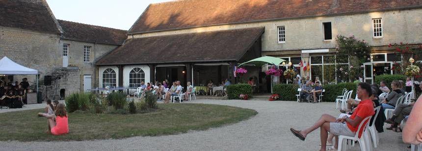 Evening entertainment at Château de Martragny, Normandy