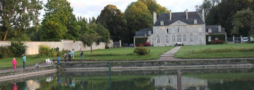 Evening stroll at Château de Martragny, Normandy