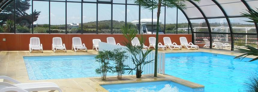 ... France Indoor Swimming Pool At The Le Grand Large Campsite, ...