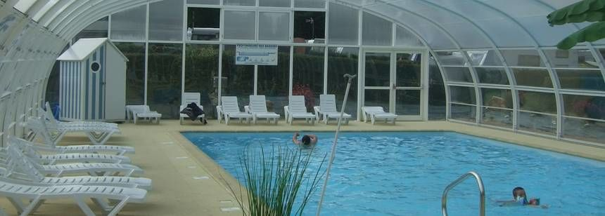 Indoor Swimming Pool at the Les Mouettes Campsite, France