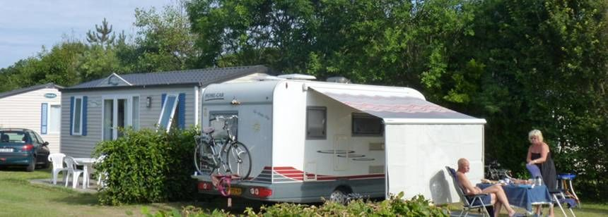 Grass Pitches For Your Caravan at the Les Mouettes Campsite, France