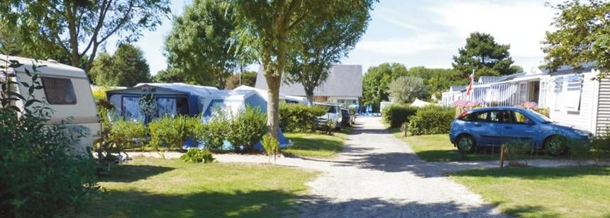 Shaded Grass Pitches at the Les Mouettes Campsite, France