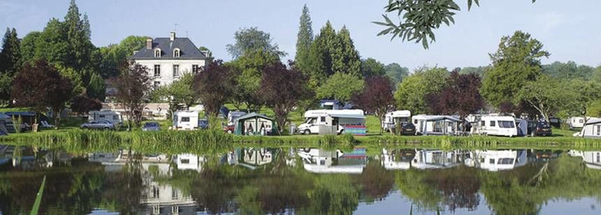 Lake Beside the Le Brèvedent Campsite, France