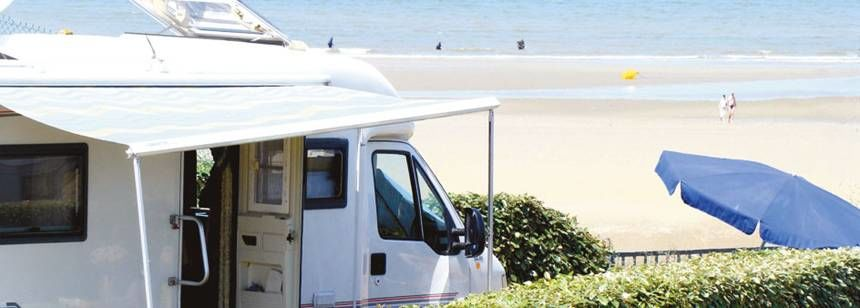 Grass Pitches By the Beach at the Point Du Jour Campsite, France