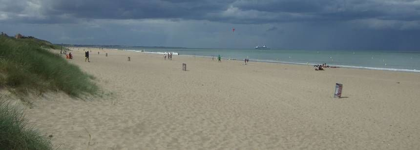 Beach Beside the Point Du Jour Campsite, France