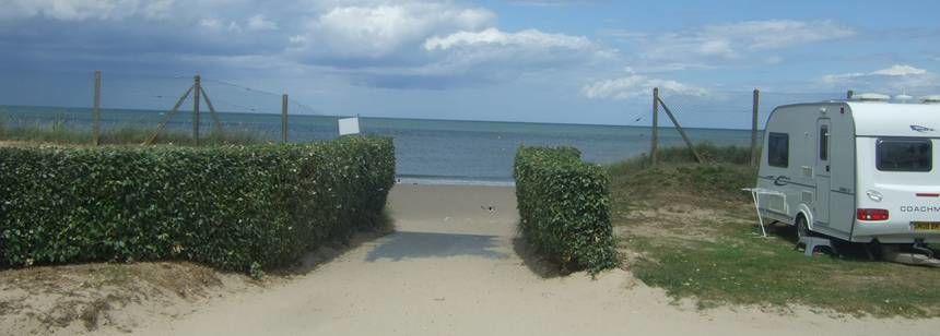 Grass Pitches On the Beach at the Point Du Jour Campsite, France