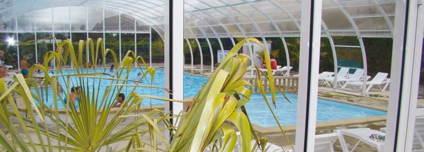 Indoor Swimming Pool at the Point Du Jour Campsite, France