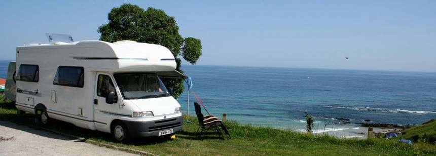 Grass Pitches With Scenic Views Over the Beach