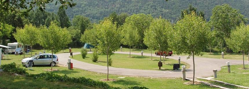 Grass Pitches at the Gavín Campsite, Spain