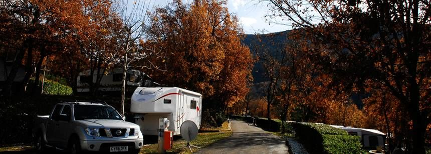 Autumn Views of the Gavín Campsite, Spain