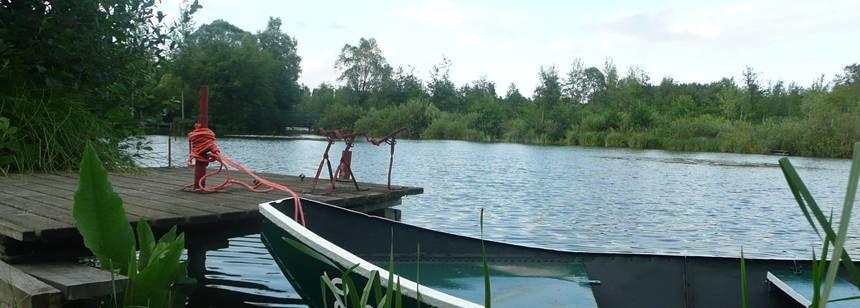 Views Over the lake at the Le Vivier Aux Carpes Campsite, France