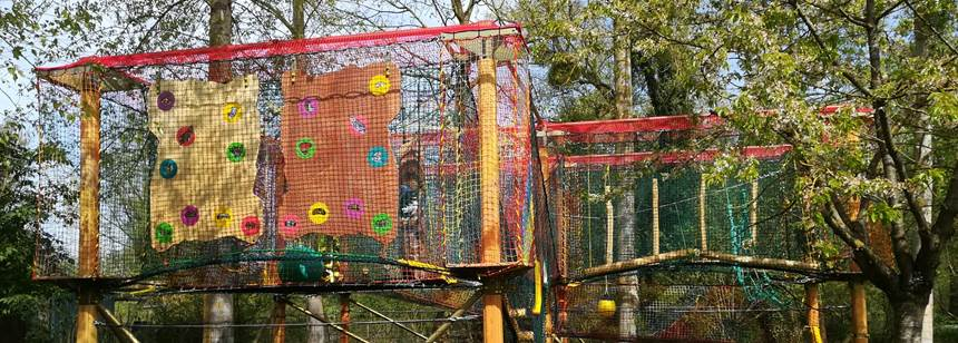 Play area, Camping le Vivier aux Carpes, Picardy, France