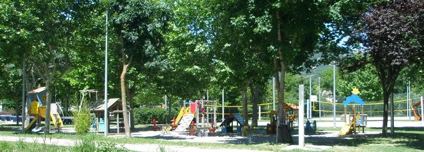 The children's play area at Domaine du Verdon, Castellane, France